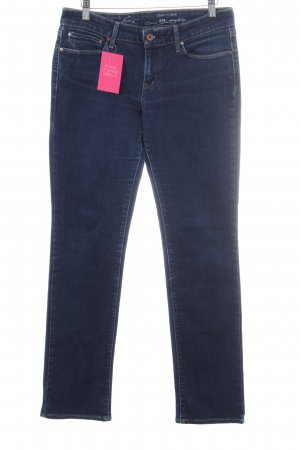 Levi's Straight-Leg Jeans dunkelblau Street-Fashion-Look