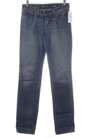 Levi's Straight-Leg Jeans dunkelblau Washed-Optik