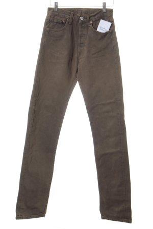 Levi's Straight-Leg Jeans grüngrau Casual-Look