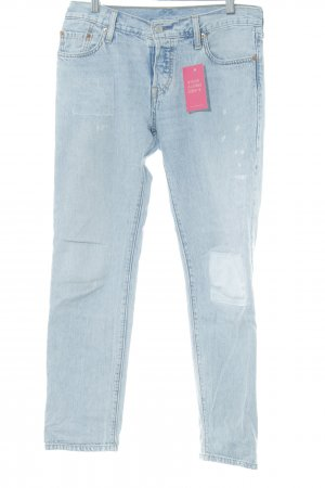 Levi's Straight-Leg Jeans himmelblau Destroy-Optik