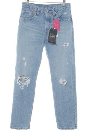 Levi's Jeans coupe-droite bleu azur-bleuet style décontracté