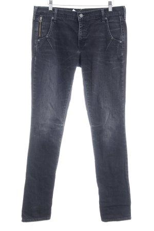 Levi's Straight-Leg Jeans schwarz Destroy-Optik