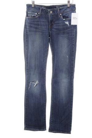 Levi's Straight-Leg Jeans stahlblau Destroy-Optik