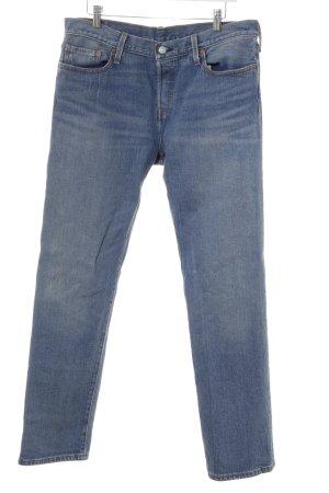 Levi's Straight-Leg Jeans stahlblau-hellbeige Casual-Look