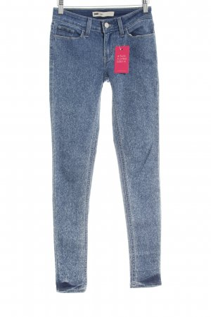 Levi's Stretch Jeans stahlblau-blassblau meliert Street-Fashion-Look