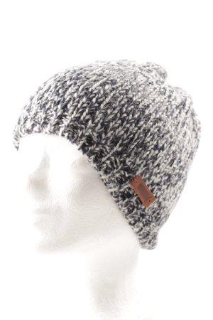 Levi's Chapeau en tricot blanc-bleu foncé moucheté style décontracté