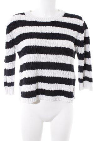 Levi's Strickpullover schwarz-weiß Streifenmuster Casual-Look