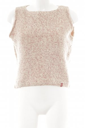 Levi's Knitted Top cream-dark red casual look