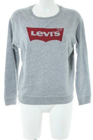 Levi's Sweatshirt hellgrau-rot meliert Casual-Look