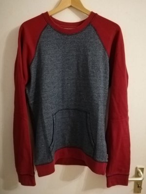 Levi's Sweatshirt bordeau-gris ardoise