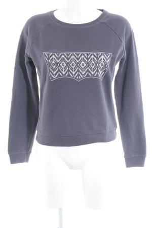 Levi's Sweatshirt grauviolett-silberfarben grafisches Muster Casual-Look