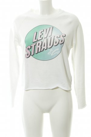 Levi's Sweat Shirt white-natural white comic pattern casual look