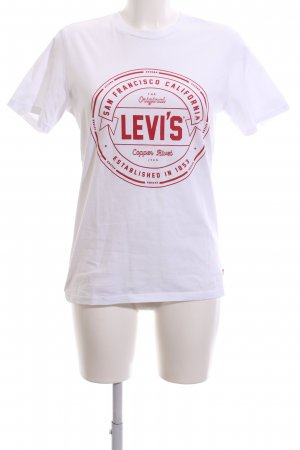 Levi's T-Shirt weiß-rot Motivdruck Casual-Look