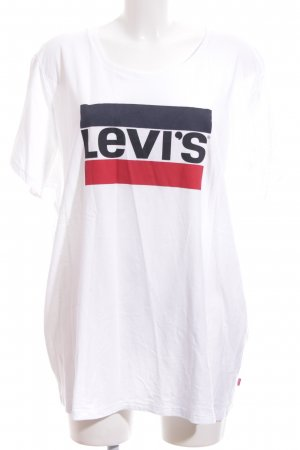 Levi's T-Shirt weiß Motivdruck Casual-Look