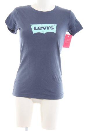 Levi's T-Shirt blau-türkis Schriftzug gedruckt Casual-Look