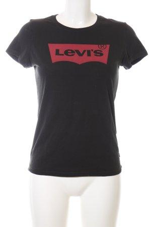Levi's T-Shirt schwarz-rot Casual-Look