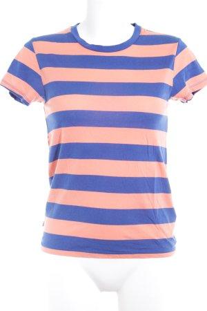 Levi's T-Shirt blau-lachs Streifenmuster Casual-Look
