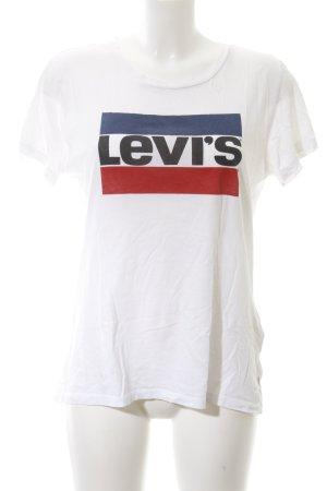 Levi's T-Shirt Schriftzug gedruckt Casual-Look