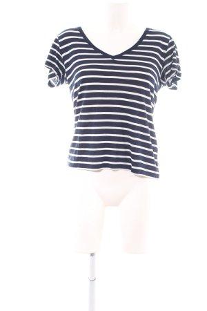 Levi's T-Shirt blau-weiß Streifenmuster Casual-Look