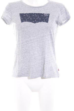 Levi's T-Shirt grau-dunkelblau meliert Casual-Look