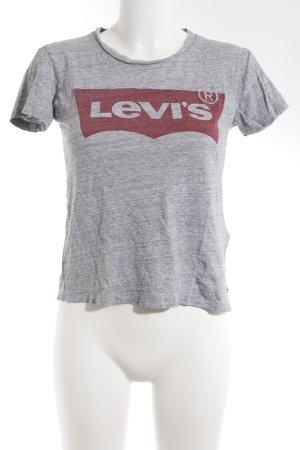Levi's T-Shirt grau-dunkelrot Schriftzug gedruckt Casual-Look