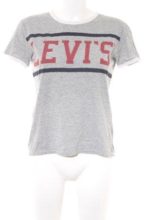 Levi's T-Shirt grau-hellrot Schriftzug gedruckt sportlicher Stil