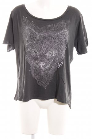Levi's T-Shirt grau-weiß Animalmuster Casual-Look