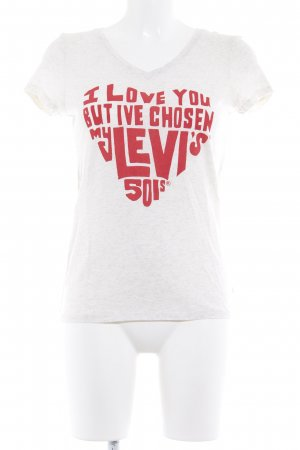 Levi's T-shirt beige clair lettrage imprimé style athlétique