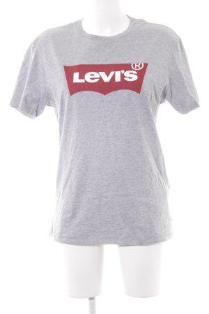 Levi's T-Shirt hellgrau platzierter Druck Casual-Look