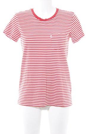 Levi's T-Shirt hellrot-weiß Streifenmuster Casual-Look