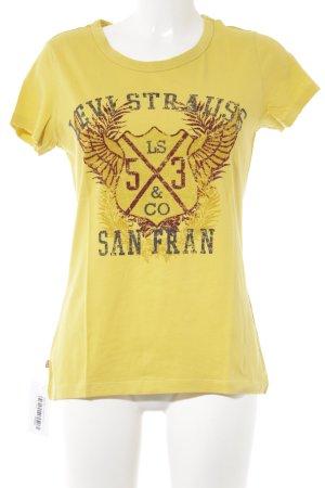 Levi's T-Shirt limettengelb Motivdruck Casual-Look