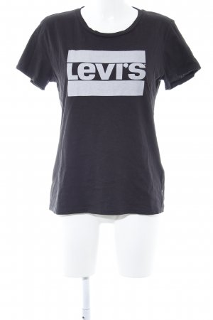 Levi's T-Shirt schwarz-hellgrau grafisches Muster Casual-Look
