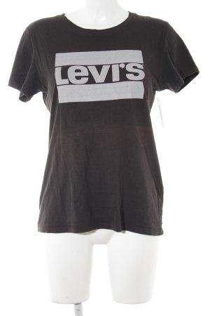 Levi's T-Shirt schwarz-hellgrau Motivdruck Casual-Look