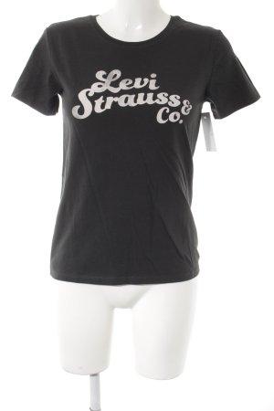 Levi's T-Shirt schwarz-weiß Schriftzug gedruckt Casual-Look