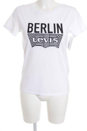 Levi's T-Shirt schwarz-weiß Schriftzug gedruckt sportlicher Stil