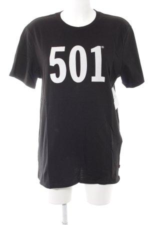 Levi's T-Shirt schwarz-wollweiß Schriftzug gedruckt minimalistischer Stil