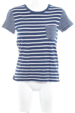 Levi's T-Shirt stahlblau-wollweiß Streifenmuster Casual-Look