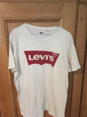 Levi's Oversized Shirt white-brick red