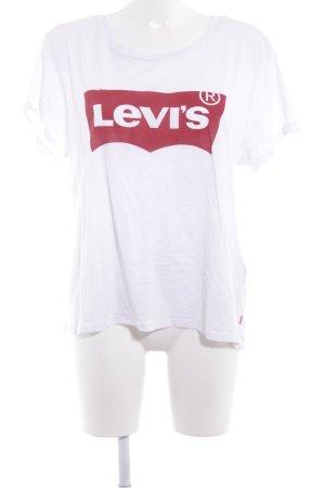 Levi's T-Shirt weiß-dunkelrot Casual-Look