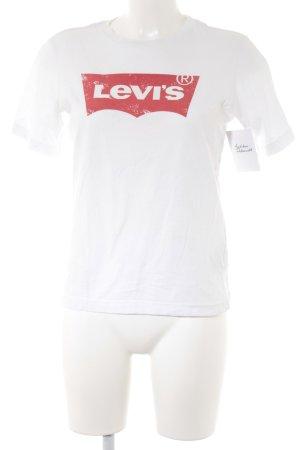 Levi's T-shirt blanc-rouge clair style décontracté