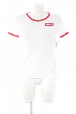 Levi's T-Shirt white-red casual look