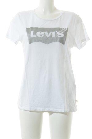 Levi's T-Shirt weiß schlichter Stil