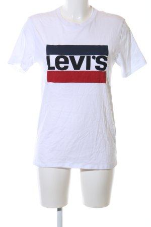 Levi's T-Shirt weiß Schriftzug gedruckt Casual-Look