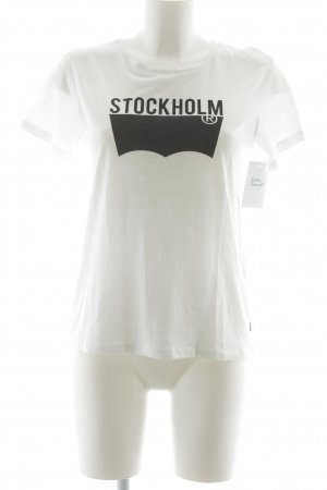 Levi's T-Shirt weiß-schwarz Motivdruck Casual-Look