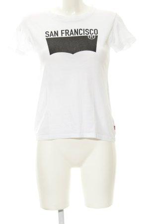Levi's T-Shirt weiß-schwarz Skater-Look
