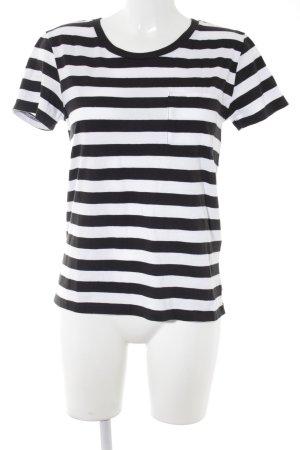 Levi's T-shirt blanc-noir motif rayé style décontracté