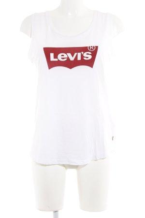 Levi's Tanktop wit-rood geplaatste afdruk casual uitstraling