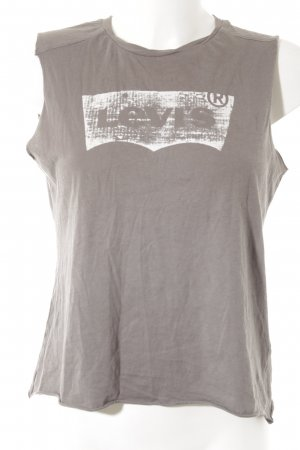 Levi's Strappy Top grey brown printed lettering casual look