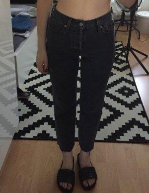 Levi's Wedgie Straight Jeans W25 dunkelgrau