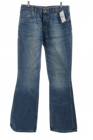 Levi Strauss Boot Cut Jeans stahlblau Casual-Look